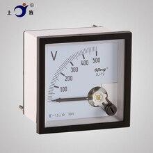 Panneau de mesure de tension analogique, 1 pièce, SJ-72 CP-72 SQ-72 CZ-72 AC 100V 150V 250V 300V 450V 500V 600V classe 1.5 72x72mm