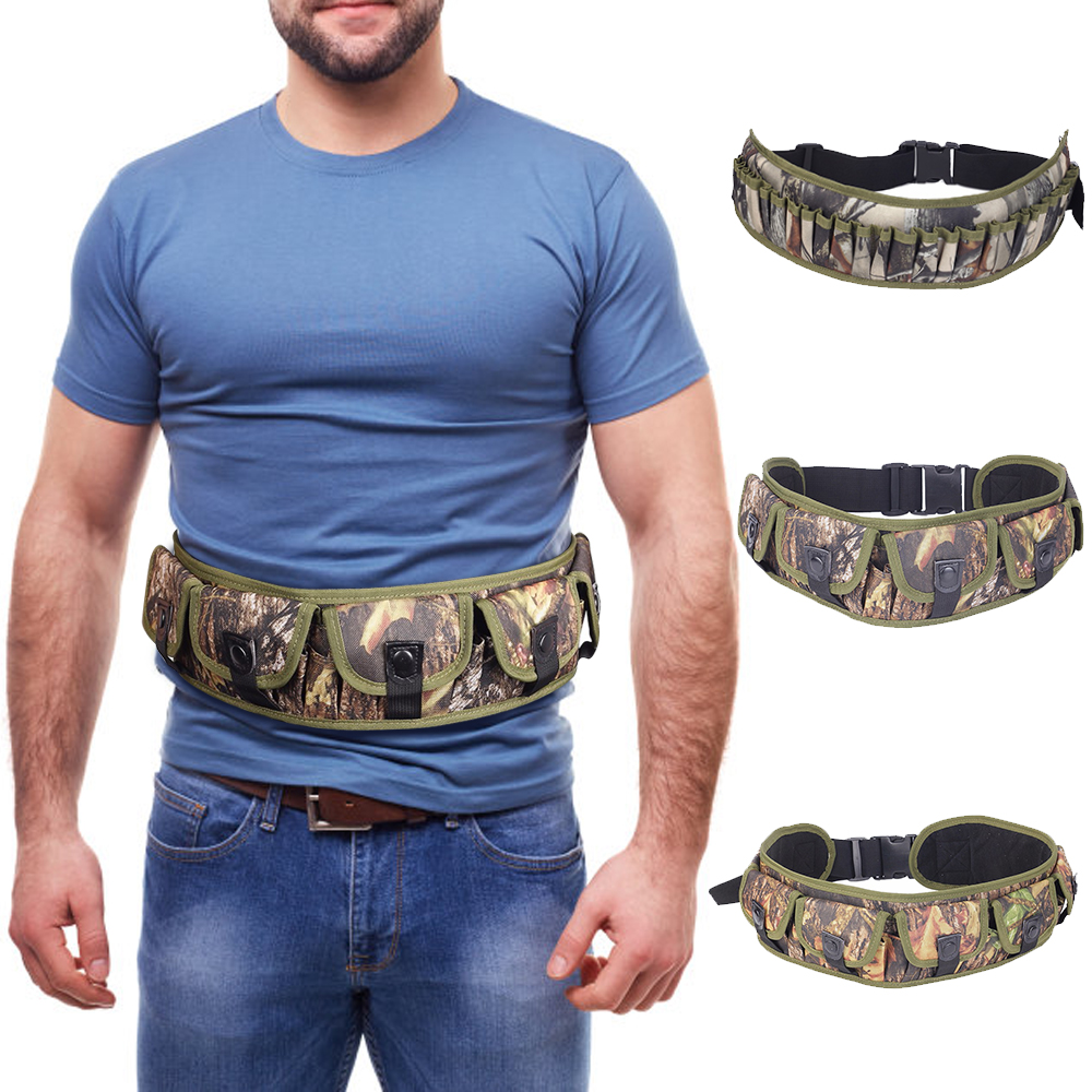 Tactical 15/25/28 Rounds Shell Holder Bandolier Belt 12/20 Gauge Ammo Pouch Shotgun Bullet Carrier Hunting Cartridge Waist Belt