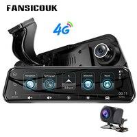 10'' Car DVR 4G Dual Lens ADAS 1080P Dash Cam GPS Bluetooth Wifi Remote Monitor Auto Camera Video Registrar Rearview Mirror H58