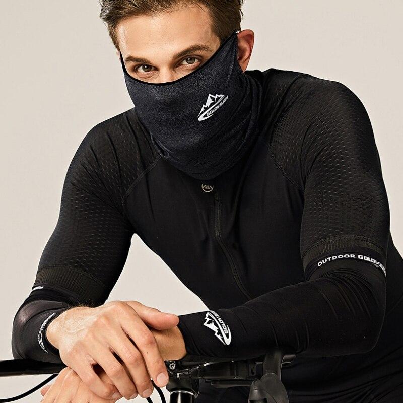 Frühling Sommer Radfahren Halbe Gesicht Maske Haut Kühles Eis Silk Atmungsaktiv Uv schutz Outdoor Sport Headwear Camping Wandern Stirnband - 3