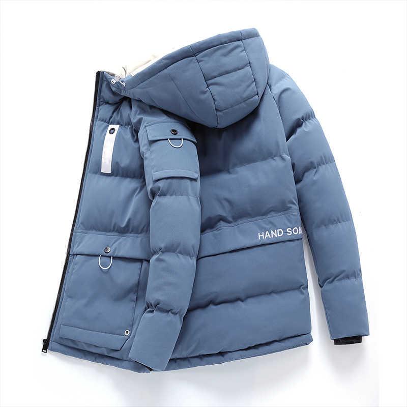 두꺼운 아래로 & 파카 코트 특대 6XL 7XL 8XL 2020 브랜드 따뜻한 겨울 남자의 블랙 블루 레드 패딩 자켓 유지
