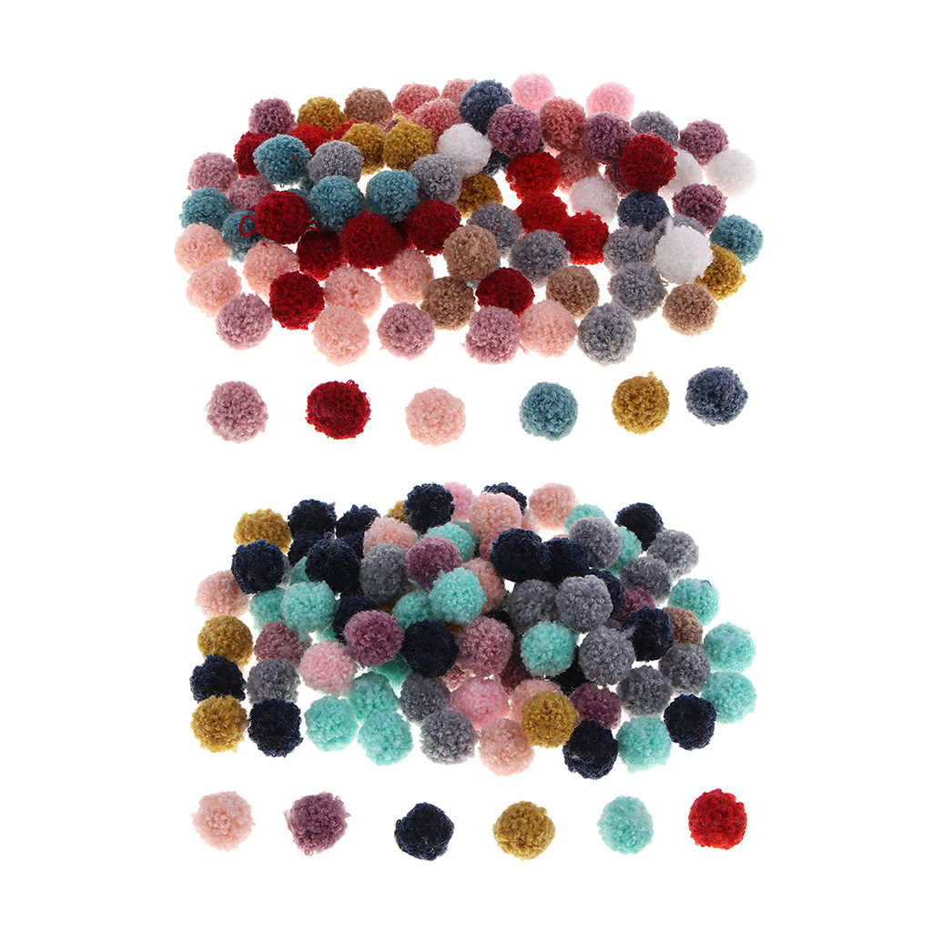 Packs Of 100 Multi Size Fluff Pompoms For Classroom Kindergarten Handmade Jewelry Accessories, Family Handcraft Entertainment