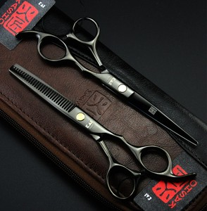 Image 3 - Marka profesyonel 5.5/6 inç saç makas kuaförlük aracı berber makası saç kesme makası İnceltme makas çanta ile