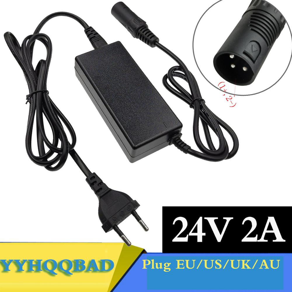 24V 2A lead-acid battery Charger wheelchair charger golf cart charger electric scooter ebike charger  XLR metal connector