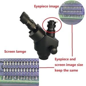 Image 5 - 3.5x 180x duplo boom simull focal trinocular microscópio estéreo 38mp hdmi usb de solda foco microscopio câmera pcb ferramentas de reparo