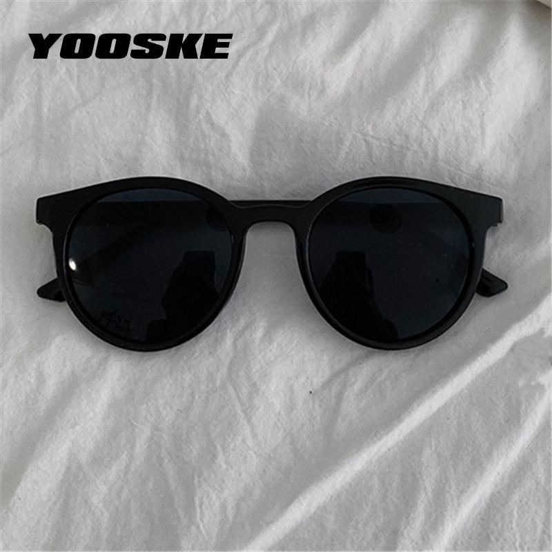 YOOSKE lunettes de soleil rondes femmes marque concepteur Vintage petites lunettes de soleil dames Style coréen nuances lunettes