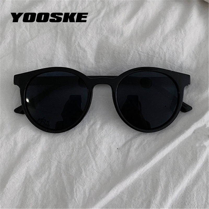 YOOSKE Round Sunglasses Women Brand Designer Vintage Small Sun Glasses Ladies Korean Style Shades Eyewear