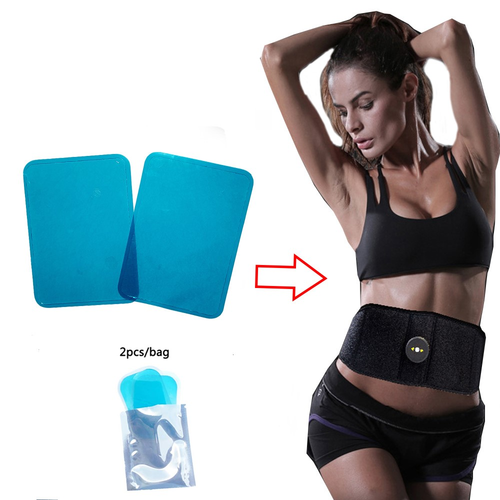 2PCS Replacement Gel Patches For EMS Muscle Stimulator Body Slimming Belt Massager Hydrogel Sheet Pads Toning Belt Accessories