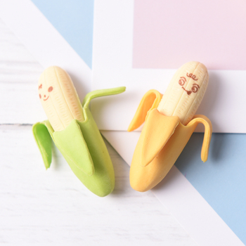 2PCS/set Cute Banana Eraser Office School Eraser School Gift Stationery Supplies Pencil eraser kids funny study supplies image