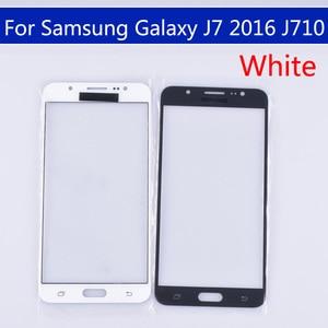Image 2 - 10pcs のためにたくさんサムスンギャラクシー J7 2016 J710 J710F J710FN J710M J710MN J710H タッチスクリーン外側ガラス Lcd 前面タッチスクリーンレンズ