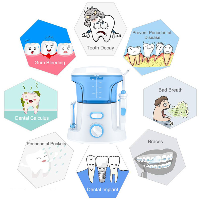 Oral Irrigator 7pcs Tips Dental Water Flosser Electric Cleaner Oral Hygiene Dental Water Flossing Tooth Care Clean For Family 3