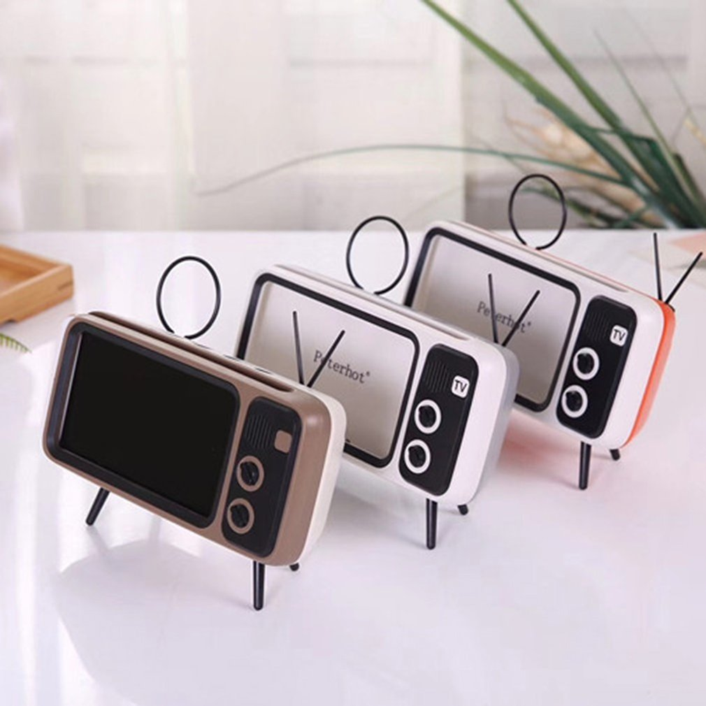 Portable Wireless <font><b>Bluetooth</b></font> <font><b>Speakers</b></font> Pth800 Retro Tv Mobile Phone Bracket Card Wireless <font><b>Speaker</b></font> Outdoor Wireless Audio image