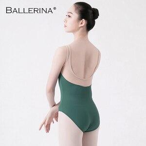 Image 2 - Adult tights dancewear ballet leotard women  open back dance leotardsgymnastics ballet costume Ballerina 5675