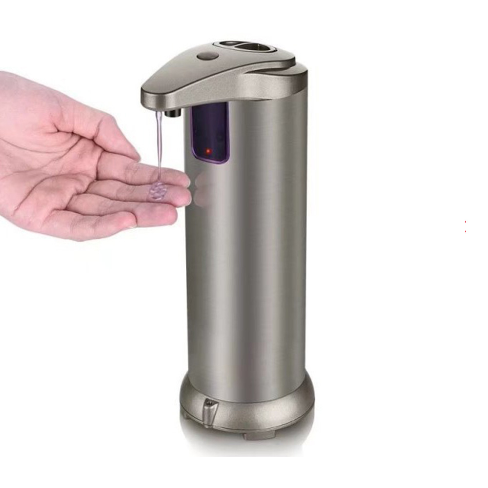 Stainless Steel Automatic Soap Dispenser Smart Sensor Touchless Liquid Soap Holder Shampoo Dispenser For Kitchen Bathroom