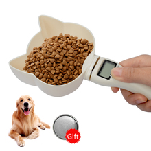 800g/1g Pet Electronic Digital Spoon Scale Measuring Bowl Kitchen Feeder Tools Cup With