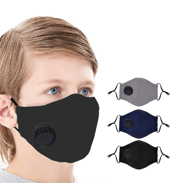 Children Mask, PM 2.5 Anti Dust Mouth Mask Washable Face Mask with Adjustable Straps Fits 2-10 Years Old Kids