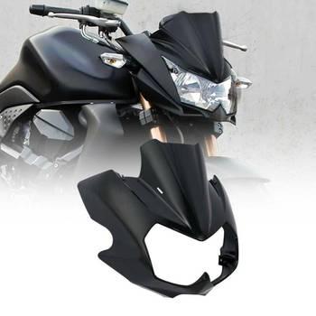 Motorcycle Vivid ABS Upper Front Fairing Cowl Nose Cockpit For Kawasaki Z750N 2004-2006 05