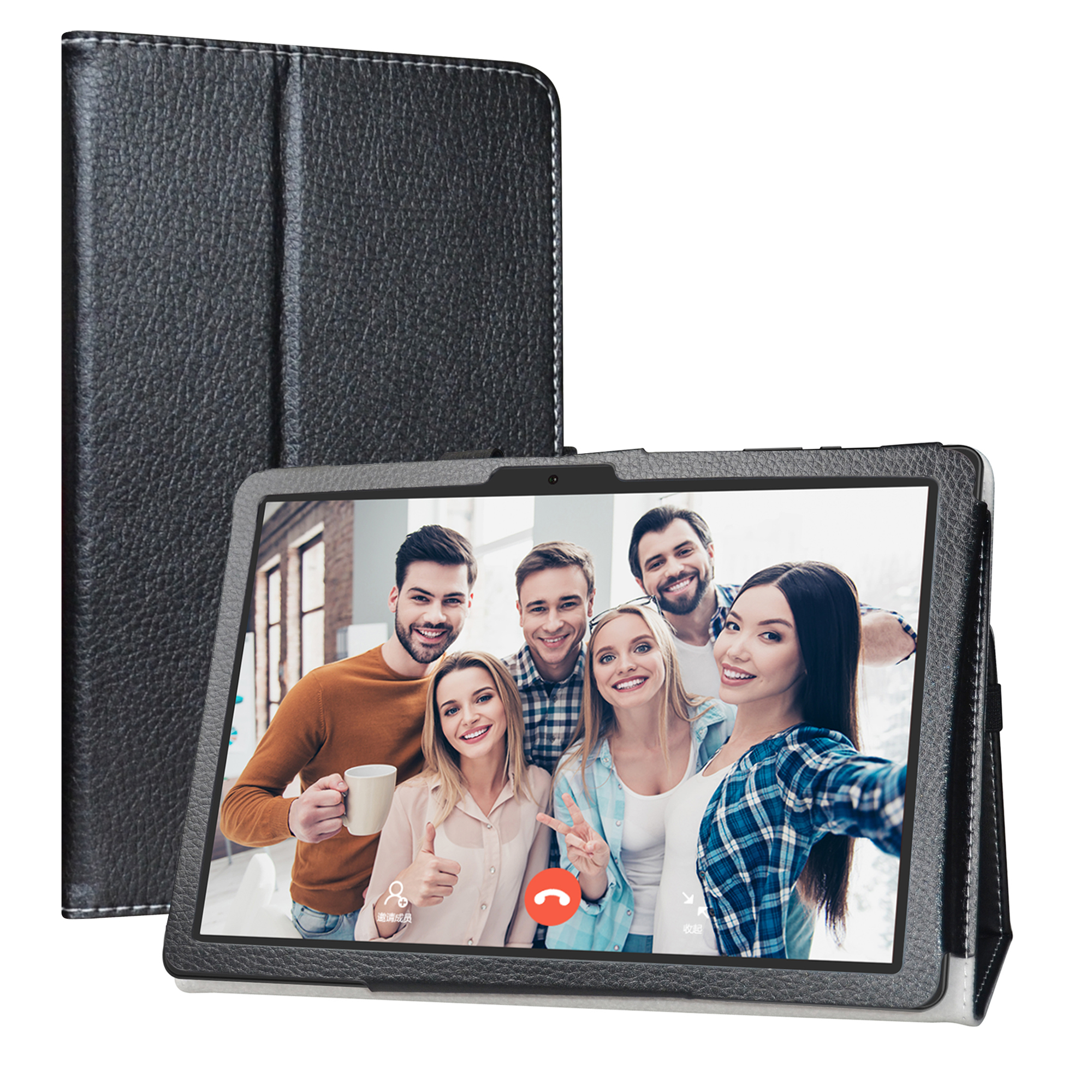"""Case For 10.1"""" Vankyo MatrixPad Z4 10 inch Tablet Folding Stand with Magnetic closure PU Leather cover"""