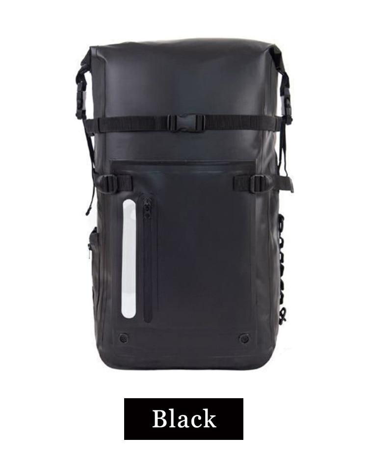 30L À Prova D' Água Dry Bag Mochila Encerramento Roll Top e Almofadado Acolchoado no Painel Traseiro
