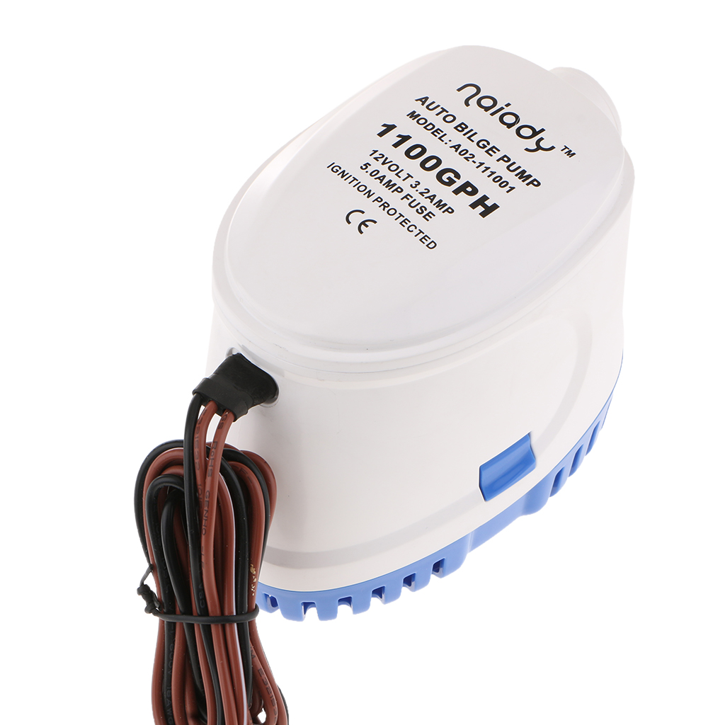 12V <font><b>1100</b></font> <font><b>GPH</b></font> <font><b>Bilge</b></font> <font><b>Pump</b></font> Marine Submersible Water <font><b>Pump</b></font> Automatically image