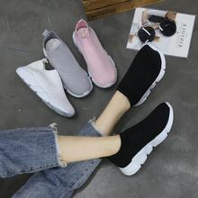 Womens Summer Platform Sock Sneakers Women Air Mesh 2019 Autumn Increased Csual Shoes Hollow Flat