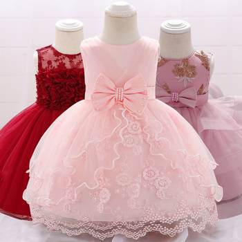 2020 Newborn Clothes Christening Dress For Baby Girl Princess Girl Dresses 1st Birthday Party Christmas Tutu Dress Girls Winter elegant baby flower girl dresses with bow newborn party dress christening dress baptism gown tulle 1st birthday dress