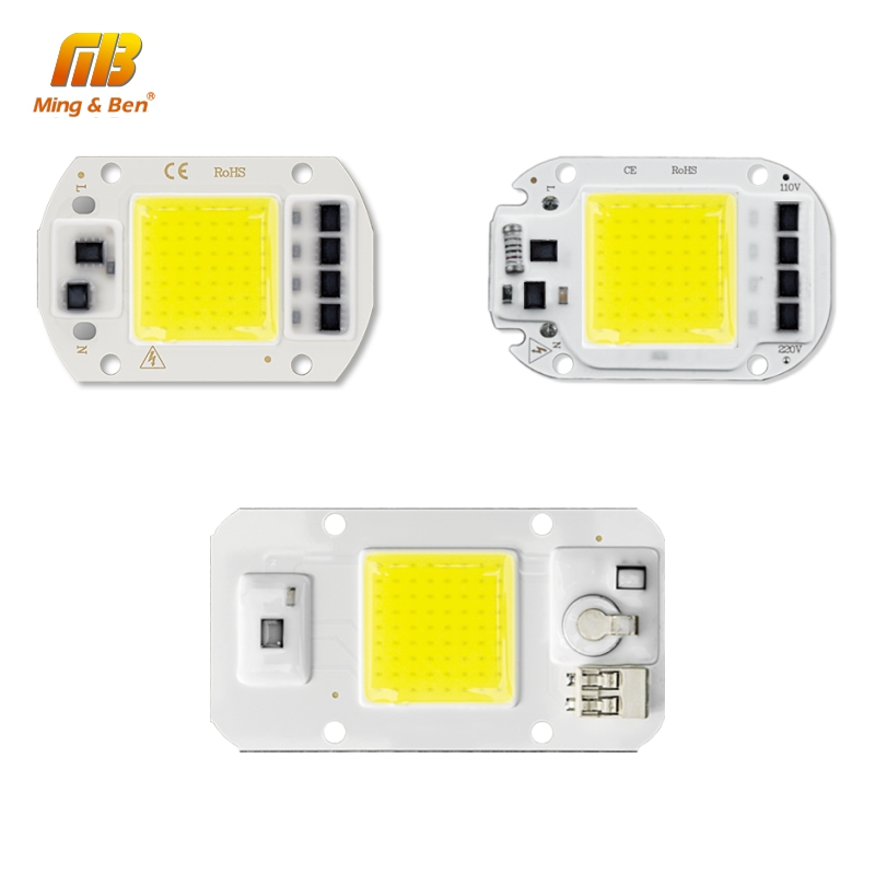 220V LED COB Chip 20W 30W 50W Lamp Bead With Lens Radiator Cold Warm Full Spectrum Natural Light For Indoor Courtyard Light DIY