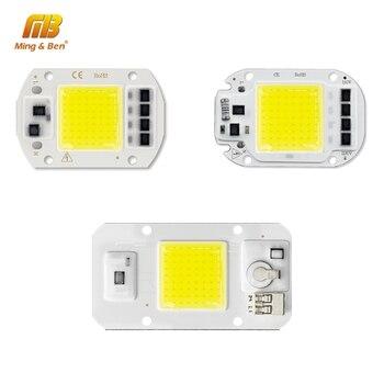 220V LED COB Chip 20W 30W 50W Lampe Perle mit Objektiv Heizkörper Kalt Warm Volle Spektrum natürliche Licht für Indoor Hof Licht DIY