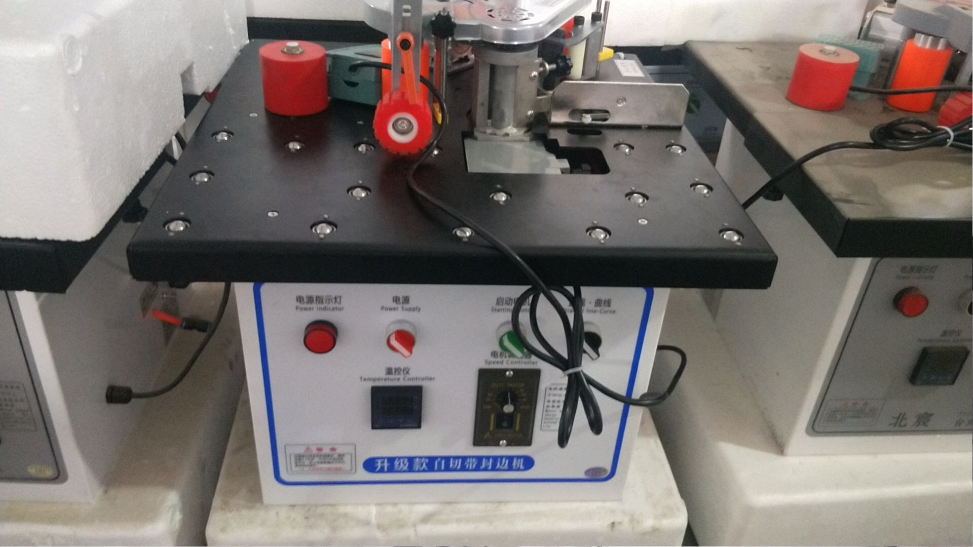 Woodworking edge banding machine speed regulating mini desktop with ball manual woodworking cutting PVC bending straight edge ma