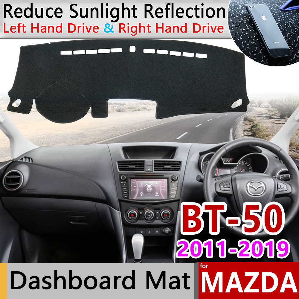 For Mazda BT-50 UP UR 2011~2019 SDX Anti-Slip Mat Dashboard Cover Pad Sunshade Dashmat Carpet Car Accessories Rug 2012 2013 2014