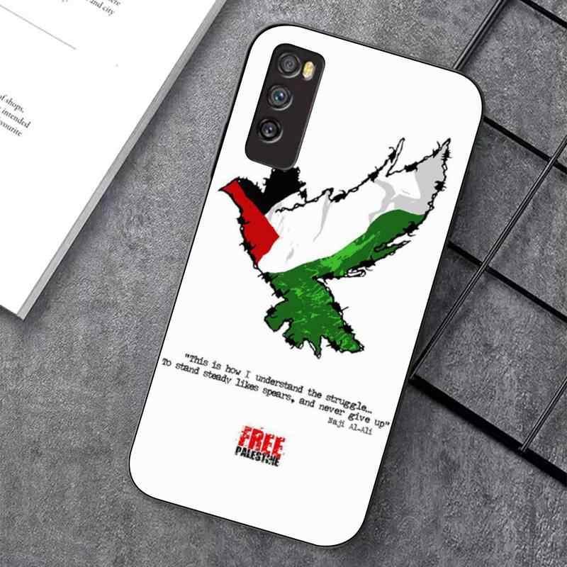 TOPLBPCS Palestine Flag Morbido nero Cassa Del Telefono per huawei nova 2 i 2 più 2s 3i 3e 4 4e 5 6 7 5i 7 pro 6 7se 6 5G