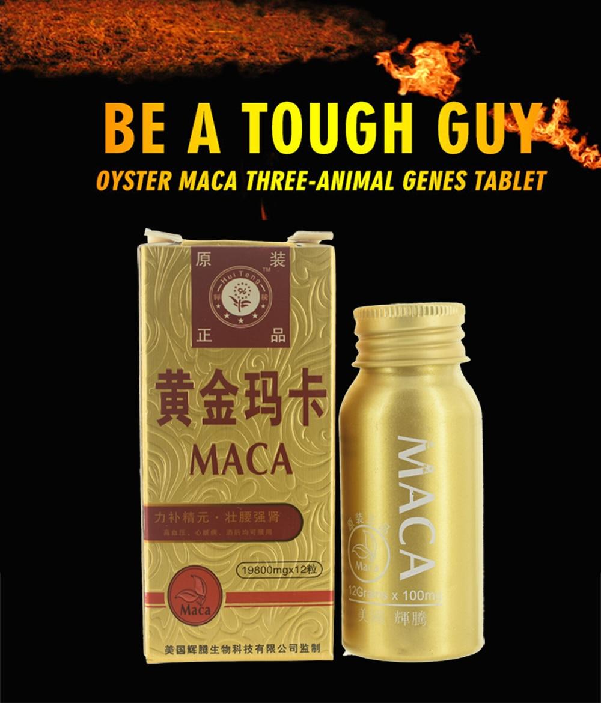 12 Pill Pure Peru Maca Enhancer Pill Oyster Tablet Man Enhancement Viagra For Men Supplements Prolong Erection Viagra Deer Whip
