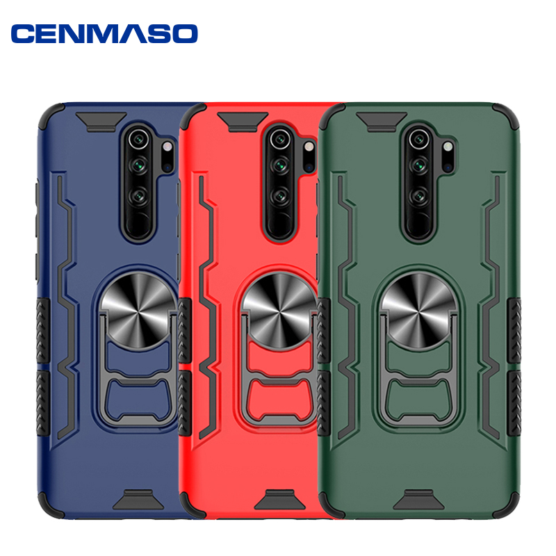 For Xiaomi Redmi Note 8 Pro 8T Case New Armor 2 in 1 TPU + PC Open Beer Bottle Cover Stand Full Protection Back Cover