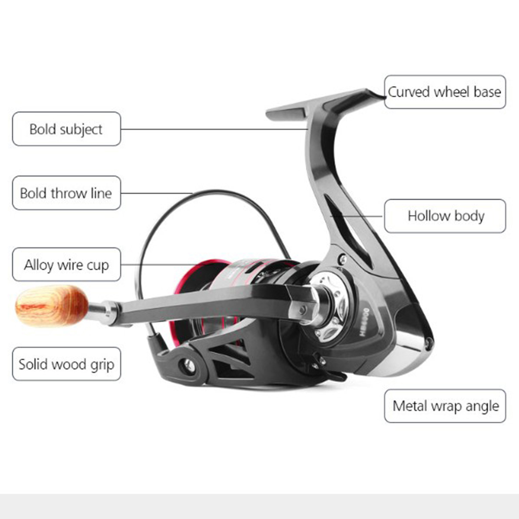 5.2:1 Gear Ratio Spinning Reel Fishing Reel Stainless Steel Left / Right Handed Fishing Accessories for Saltwater Freshwater