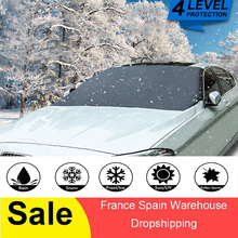 210*120cm Car SunShade Cover Magnetic Car Front Windscreen Snow Ice Shield Cover Car Windshield cover Car Sun Protector