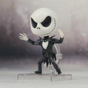 Image 3 - Le cauchemar avant noël Jack Skellington squelette 10cm mignon figurine avec casquette 1011 jouets poupée