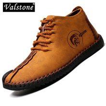 Valstone 2020 primavera otoño Casual Zapatos hombres cuero hecho a mano zapatilla vintage medio-top botas Zapatos de hombre tallas grandes 48
