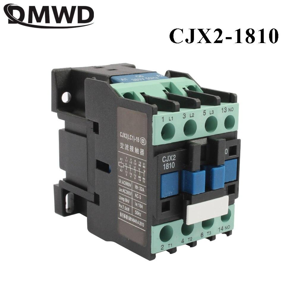 CJX2-1810  LC1 1810 Ac Contactor 36V AC 18A  50HZ/60HZ  Orginal Lc1-1810 36V 48V 24V 12V 110V 220V 380V