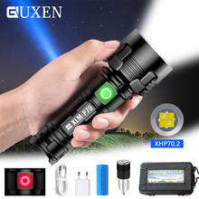 4 Core XHP70.2 LED Flashlight Super Bright Tactical Torch USB Rechargeable 3 Light Mode Waterproof Hunting Lamp Outdoor Lighting