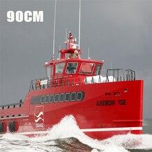 90cm DIY meer axt schiff modell set simulation fernbedienung für geburtstag geschenk