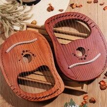 10/16 струнная древесина Lier harp металлическая ловушка Mahony твердая древесина струнный инструмент с Draagbag