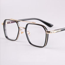 Popular Retro Men Female Flat Mirror Metal Double Beam Aviator TR Glasses Frame can be equipped with Myopia and Presbyopia F770