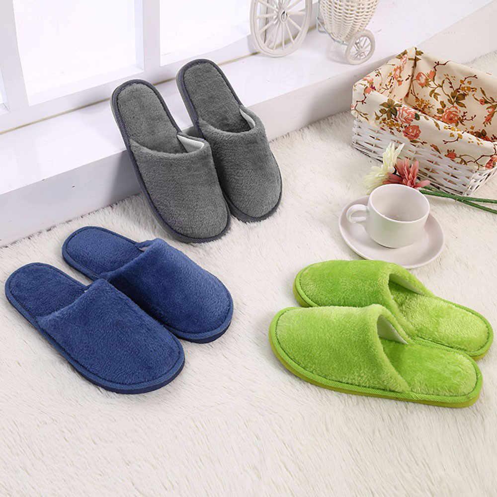 Pantofole Degli Uomini di Inverno del Panno Morbido di Casa Amanti Scarpe Piano Casa Scarpe Calde Appartamenti Morbide Scarpe Da Uomo Solido Coperta Slip-On scarpe # YL5