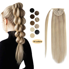 Ponytail-Hairpieces Hair-Extensions Human-Hair Brazilian Ugeat for Women 14-24inch 60g-80g