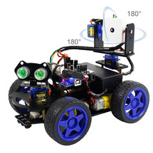 BlueRaven Roboduino Uno R3 Smart Robot Car Kit Toy Car Robotic Kit Supports Scratch With Wifi Camera Remote Control For Arduino