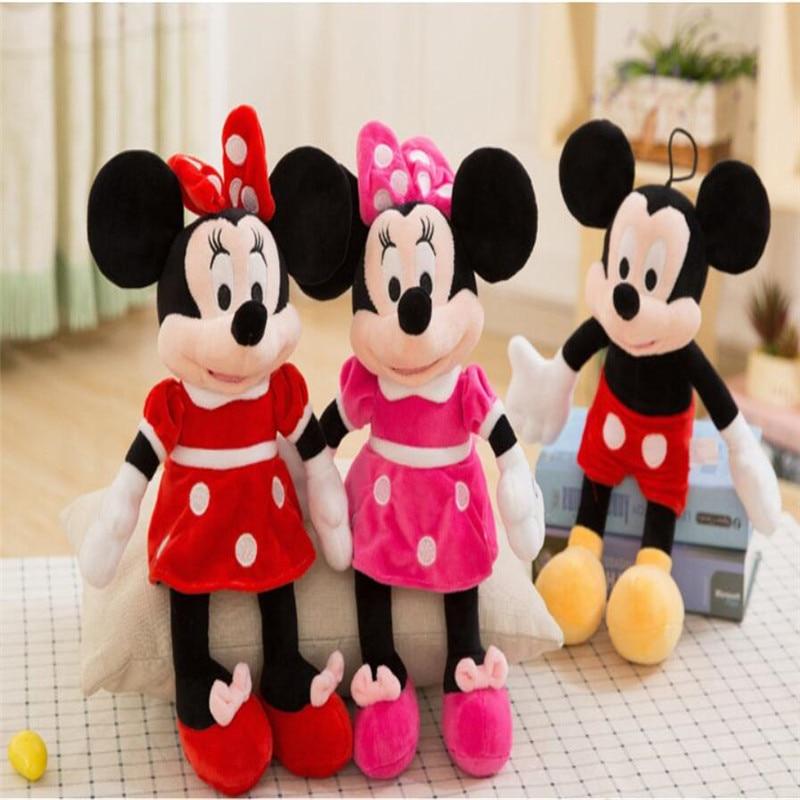High Quality Cute Disney Mickey Mouse Minnie Plush Toys Animals Cartoon Stuffed Doll Children Christmas Gifts