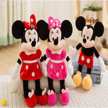 High Quality Cute Disney Mickey Mouse Minnie Plush Toys Animals Cartoon Stuffed Doll Children Christmas Gifts