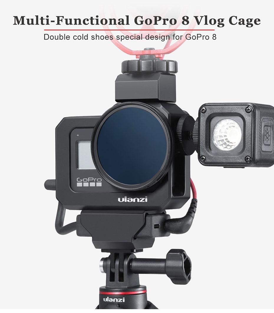 ULANZI G8-5 Vlog Frame Cage Case with 52MM Lens Filter for Gopro Hero 8 UK J9Q8