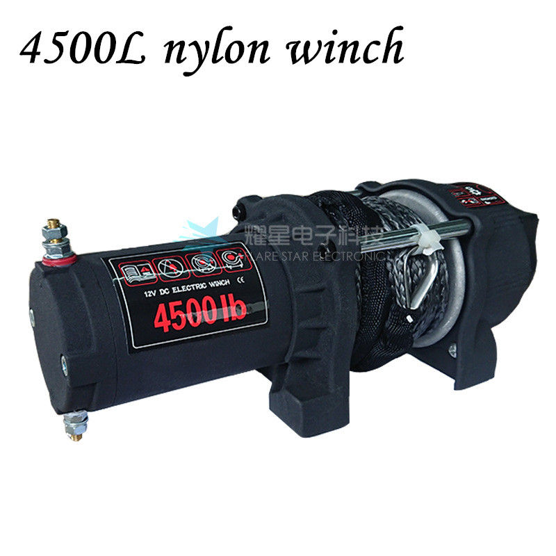 4500L Nylon Winch Truck Electric Winch 12v/24v Small Crane Truck Tractor Electric Hoist