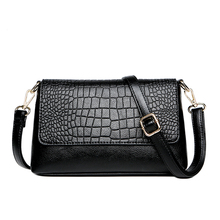 soft Genuine Leather Fashion Shoulder Bag for woman Crocodile Casual Pouch with adjustable Strap